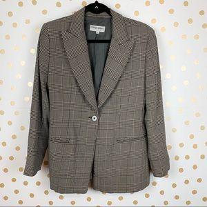 Giorgio Armani Vintage Houndstooth Wool Blazer